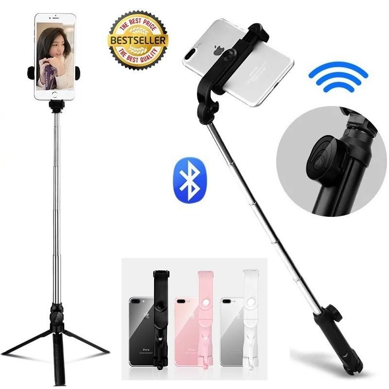 New XT10 tripod selfie stick Mobile phone horizontal and vertical shot live selfie stick Bluetooth 新款XT10蓝牙三脚架自拍杆