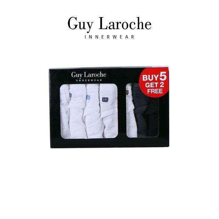 Guy Laroche กางเกงในชาย รุ่น PACK 7 ชิ้นสุดคุ้ม ( สีขาว 5 ) และสีเทา,สีดำ (JUS4902