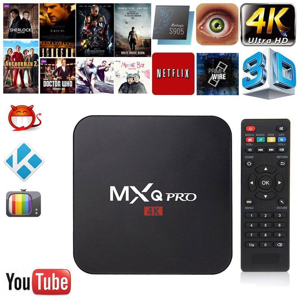 Smart Tv box MXQ4k MXQ pro 4k mxqpro rk3229 kodi wifi youtube Android Box