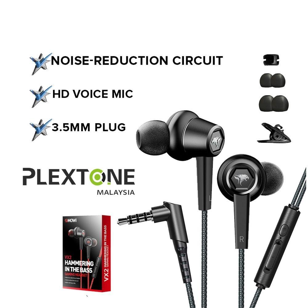 PLEXTONE XMOWI VX2 Gaming Earphone Earphone Microphone Stereo Sound Noise Reduction POCO Huawei Realme Xiaomi Laptop PS4
