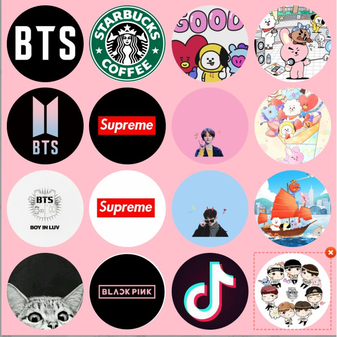 Pop Socket Mobile Phone Holder Popsocket Tik Tok Supreme Bts