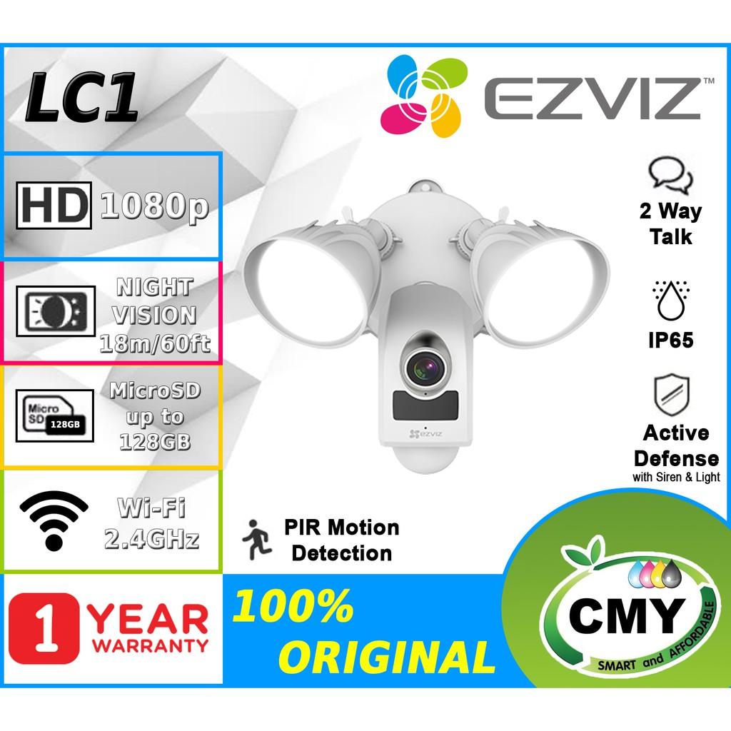 EZVIZ LC1 1080P (2MP) Outdoor Floodlight Security Camera (CS-LC1-A0- 1B2WPFRL)