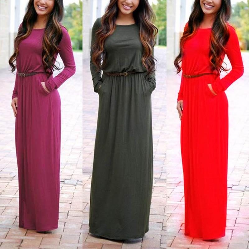 0460f4f871b Women s Linen Long Sleeve Maxi Dress