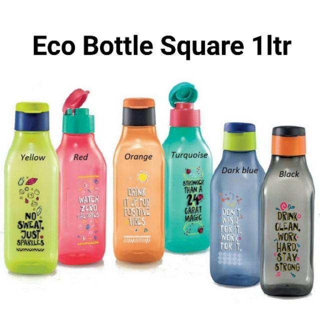 Tupperware Eco Bottle Square 1ltr