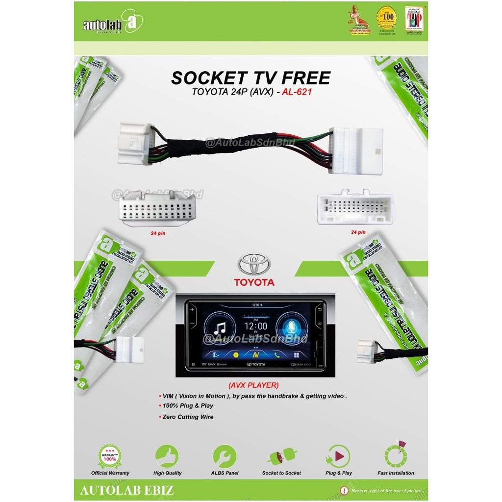 Socket TV free (Bypass VIM) Toyota 24pin AVX
