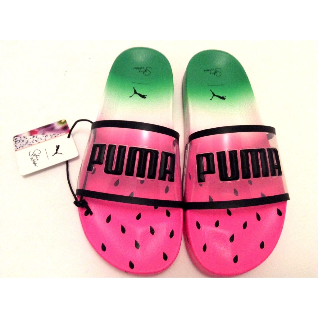 7d43709e31e Maopan Puma x Sophia Webster Transparent Watermelon Slippers ...