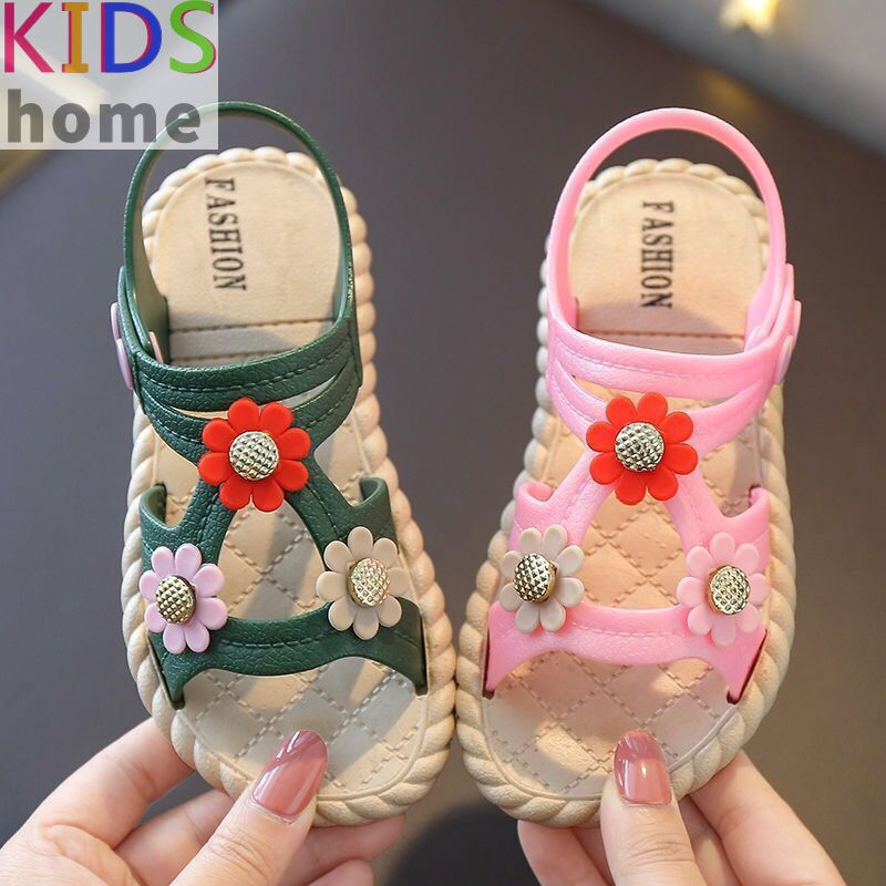 Cute Bowties Baby Girls Sandals Kids Students School Shoes for Summer Anti-slip