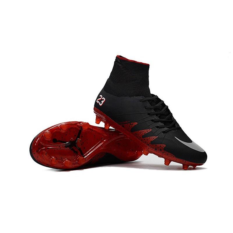 acf1d676f Nike Hypervenom Phantom Ii FG Neymar X Jordan Black Red Soccer Football  Shoes