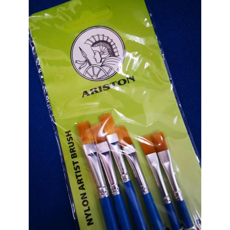 Ariston Nylon Flat Brush Set