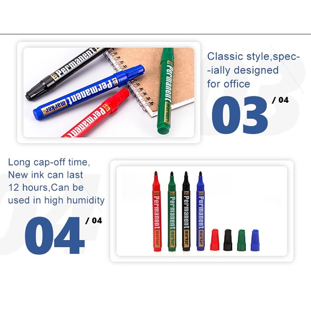 6pcs GXIN Permanent Marker Pen/ White Board Marker Economical 3mm G-113D