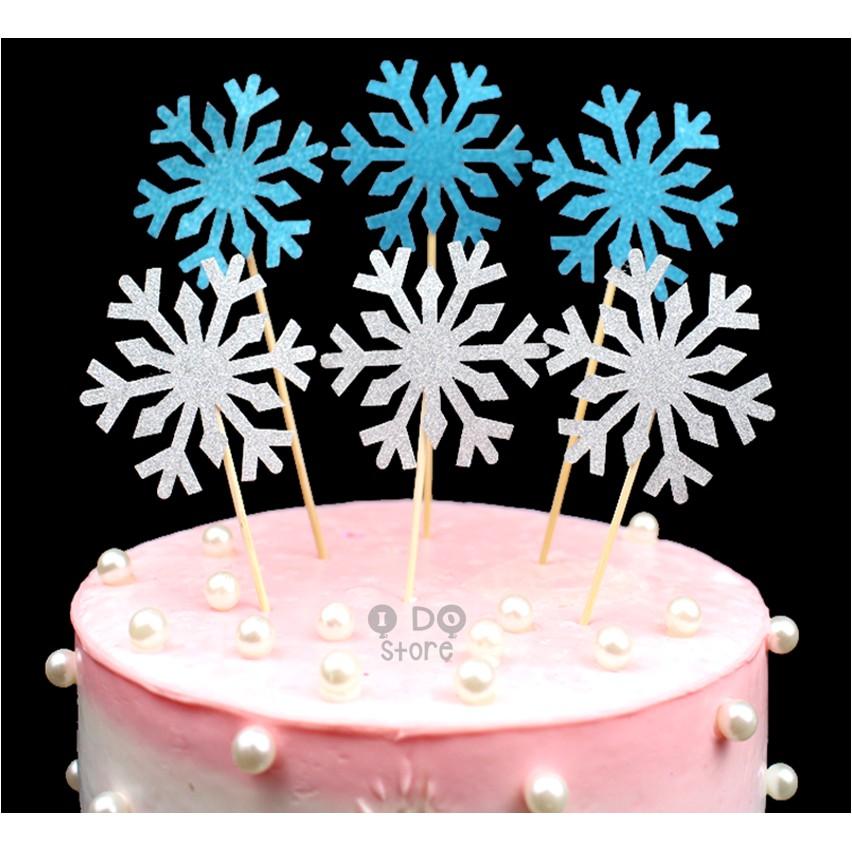 Surprising Ready Stockglitter Snow Flake Frozen Theme Cake Topper Cake Birthday Cards Printable Nowaargucafe Filternl