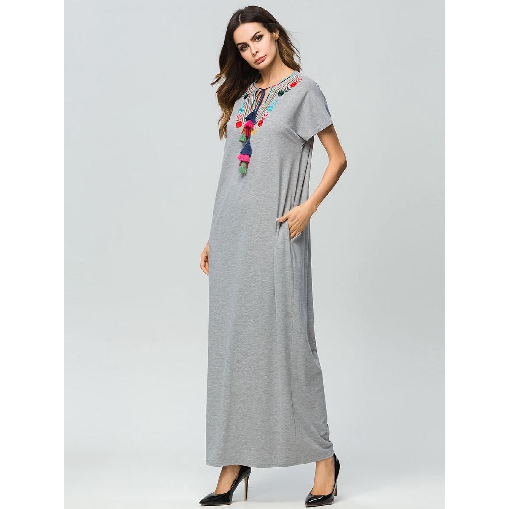 1637ad00ea35e maxi dresses Summer 2018 loose plus size Straight T shirt dress maternity  wear