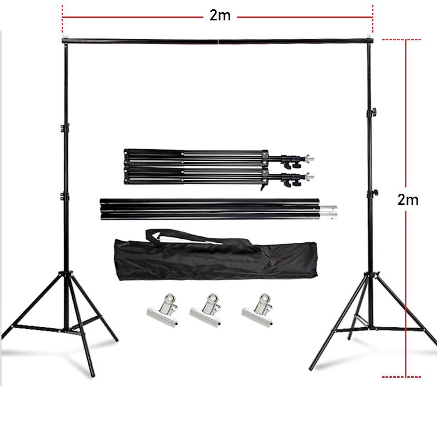 Photography Studio Photo Shooting Background Cloth Backdrop Tripod Stand Softbox Lighting Light Bulb Lamp + Storage Bag