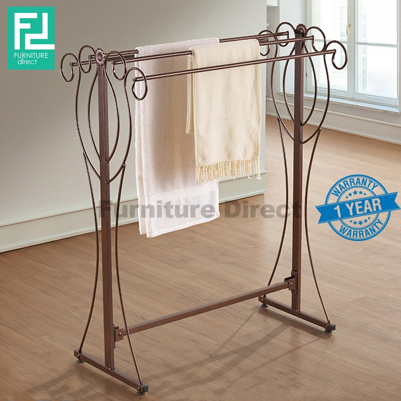 BENNIS BS1015 wrought iron towel rack (WATER RESISTANT AND RUSTIC PROOF SURFACE)