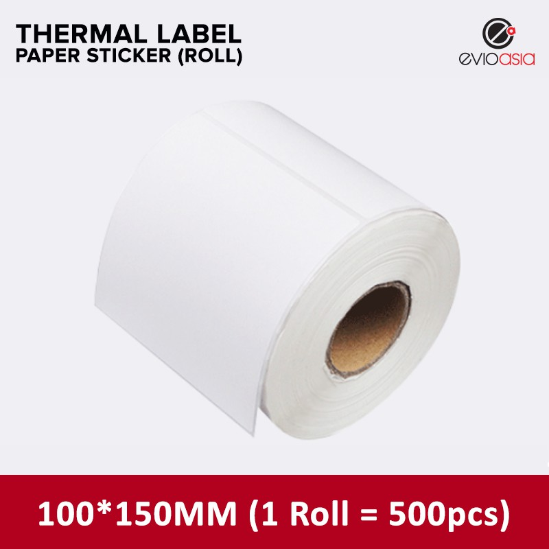 (500pcs) 100mm x 150mm Thermal Label Paper Sticker Roll for Thermal Printer