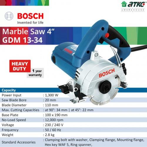 """BOSCH GDM 13-34 Marble Saw 4"""" 1300W (060136A2L0)"""