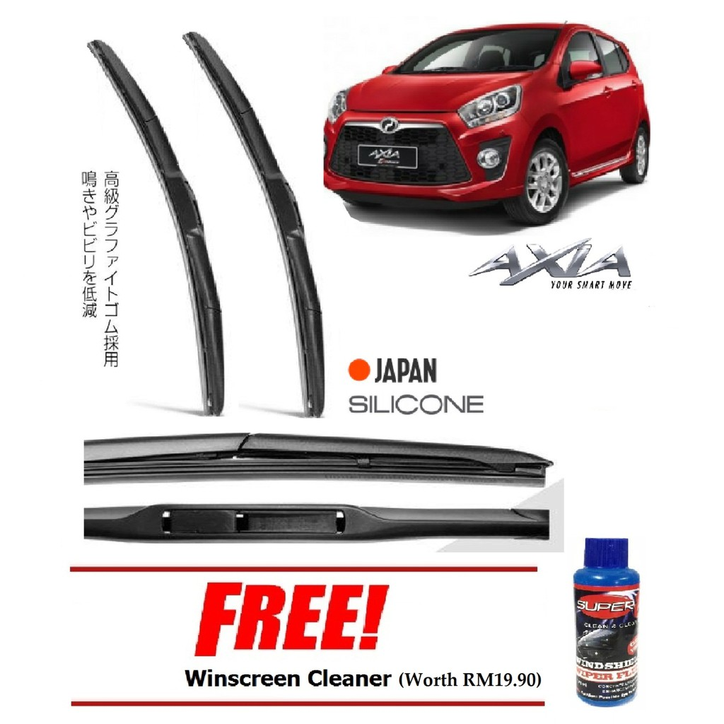 "100% Japan Silicone 3-Step Car Wiper Blade (21""+14"") For"