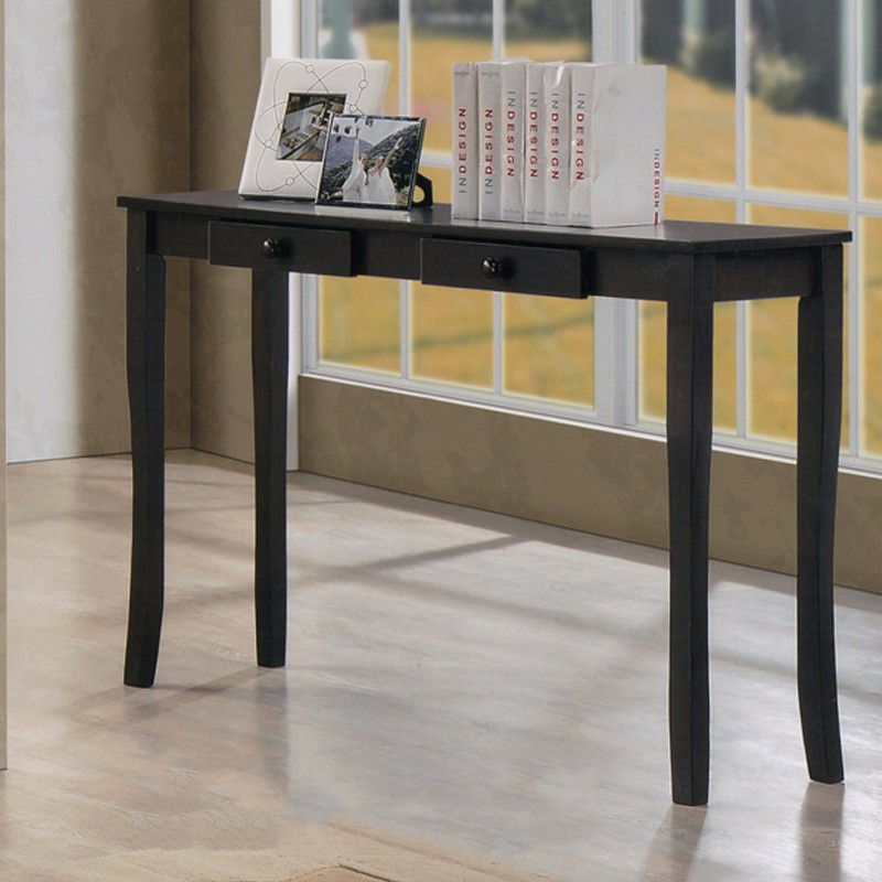 CST1539 4ft Solid Wood Console Table dressing table With 2 Drawers wenge color