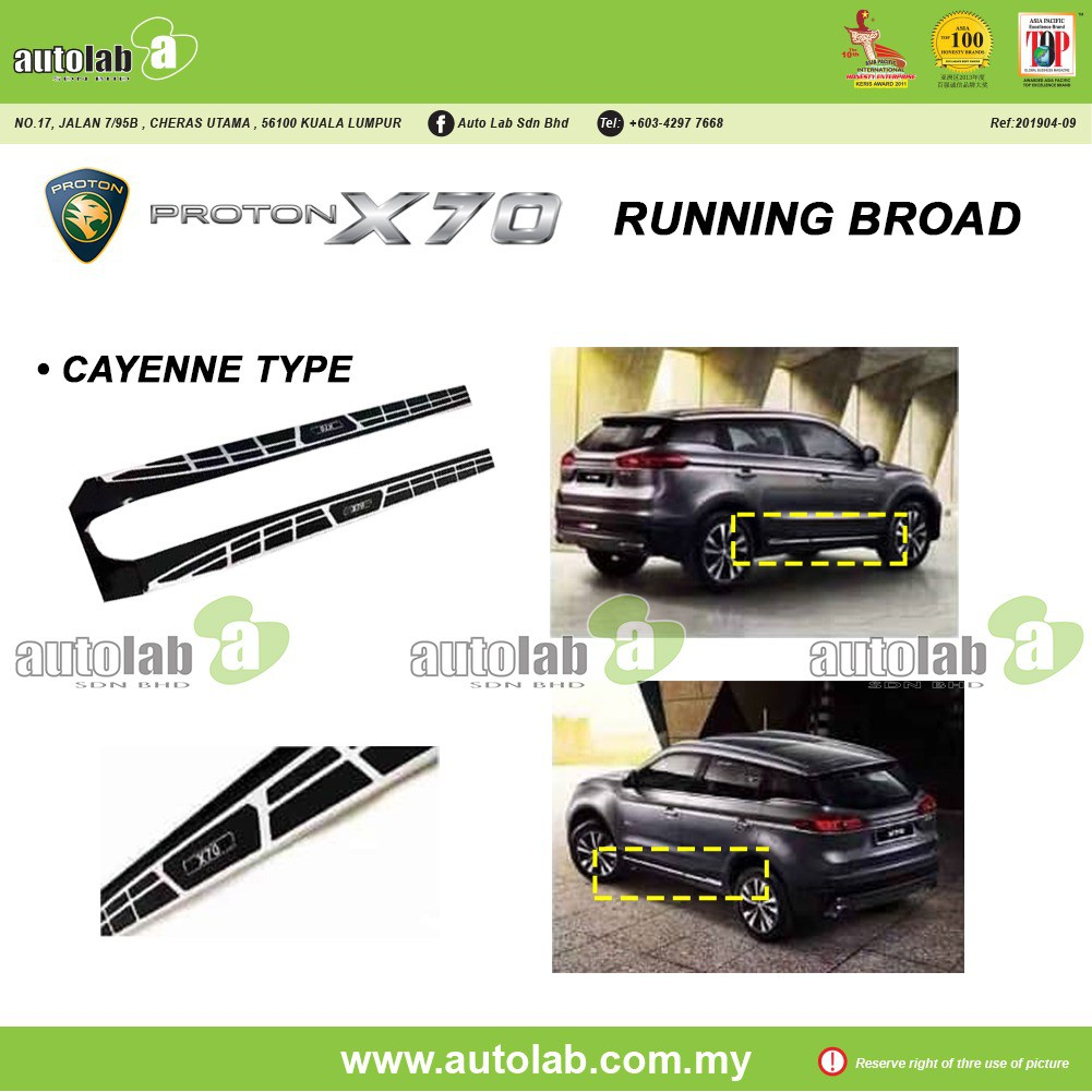 Running Board Proton X70 Cayenne Type