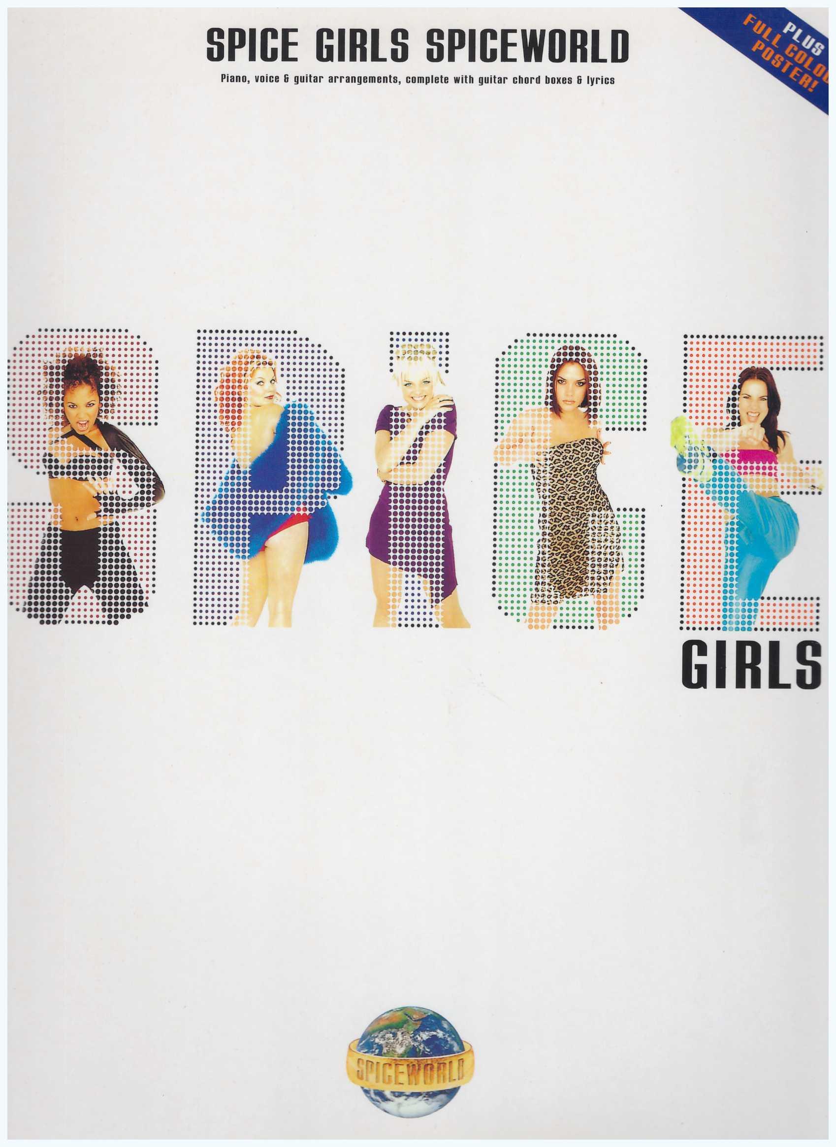 Spice Girls Spiceworld / PVG Book / Piano Book / Pop Song Book / Vocal Book / Voice Book / Guitar Book / Gitar Book