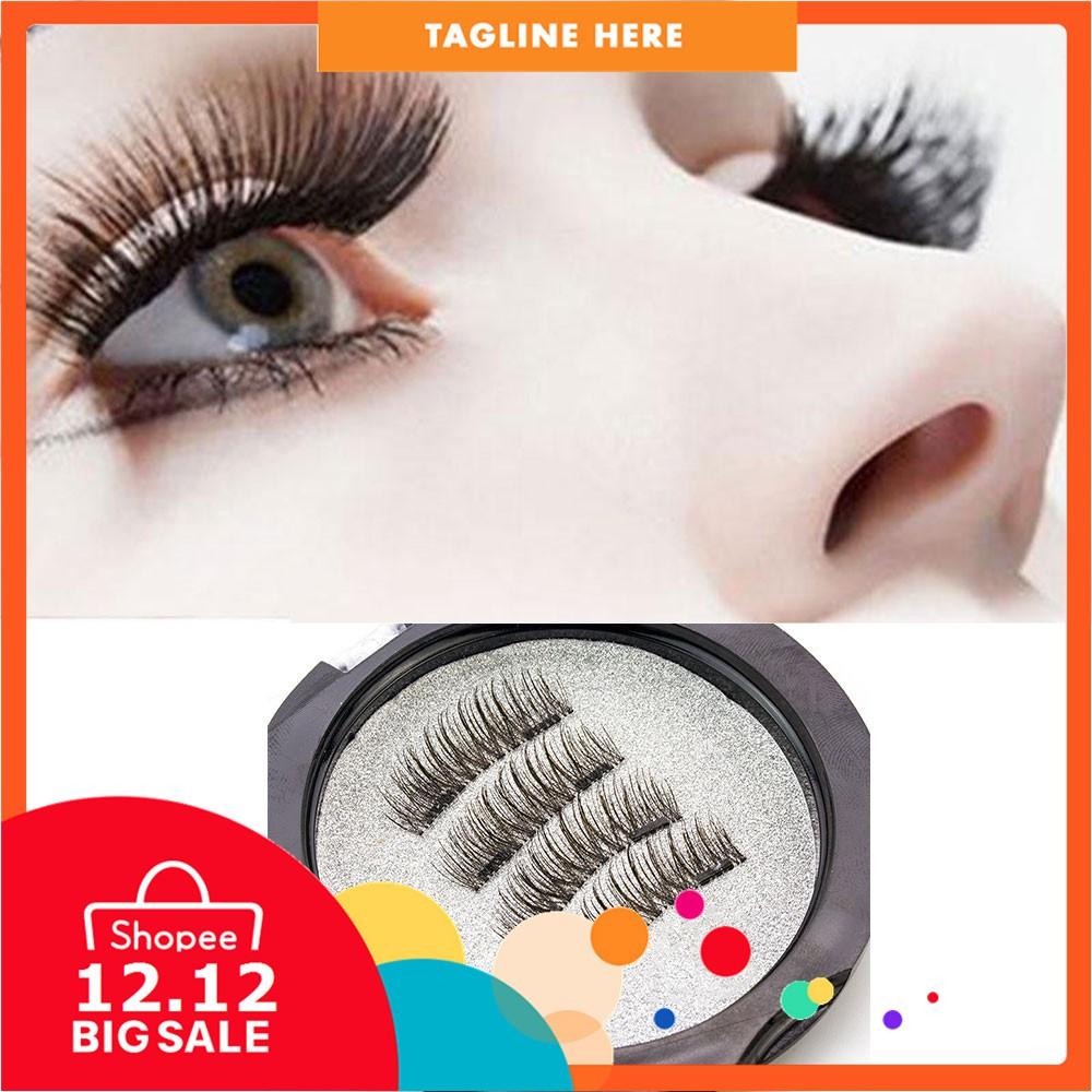 0e8eea2a72d ProductImage. ProductImage. FLY 4Pcs 3D Double Magnet Long Magnetic False  Eyelashes ...