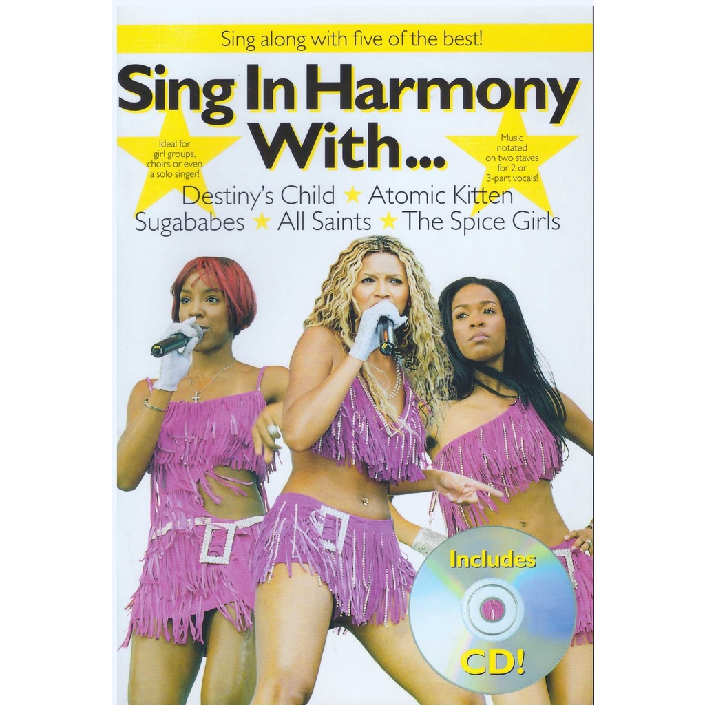 Sing In Harmony With... (25Cm X 17CM) / Music Book /Guitar Chord Book / Song Book / Voice Book