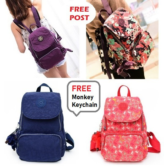LOCAL READY STOCK  - KIPLING Backpack Small Travel Bag Nylon Backpack  1262157f10