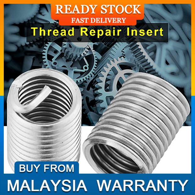 50pcs SS304 Coiled Wire Helical Screw Thread Inserts M6 X 1 0 X 2 5 D Length