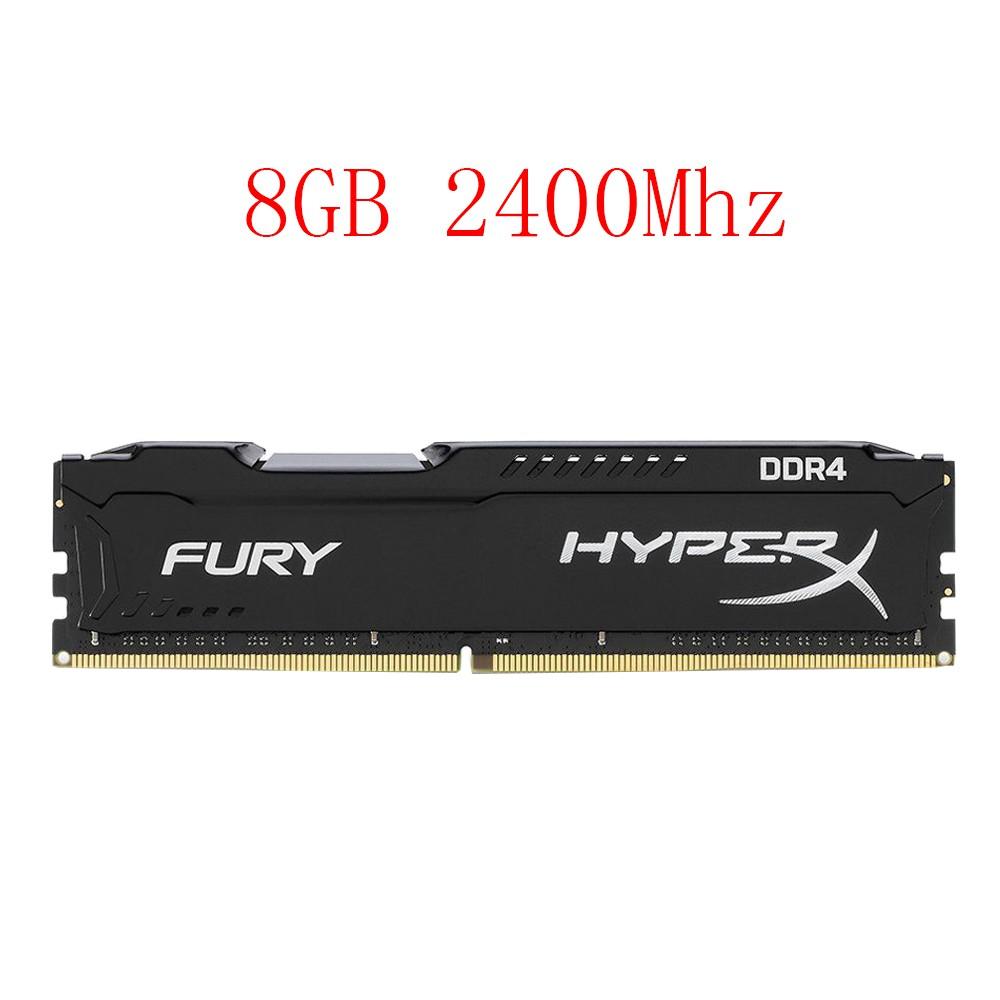 For HyperX FURY 8GB Desktop Memory RAM PC4-19200U DDR4 2400MHz 288PIN DIMM