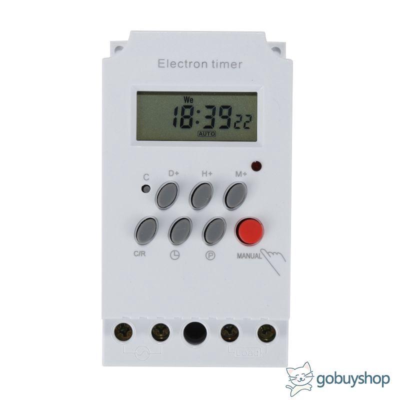 Din Rail LCD Digital Programmable Electronic Timer KG316T-II AC 220V 25A