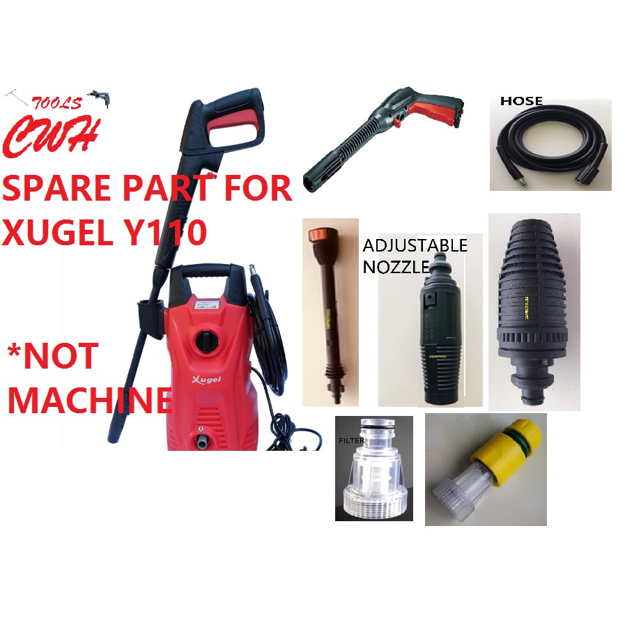 SPARE PART FOR XUGEL Y110 1500W HIGH PRESSURE WASHER WATERJET