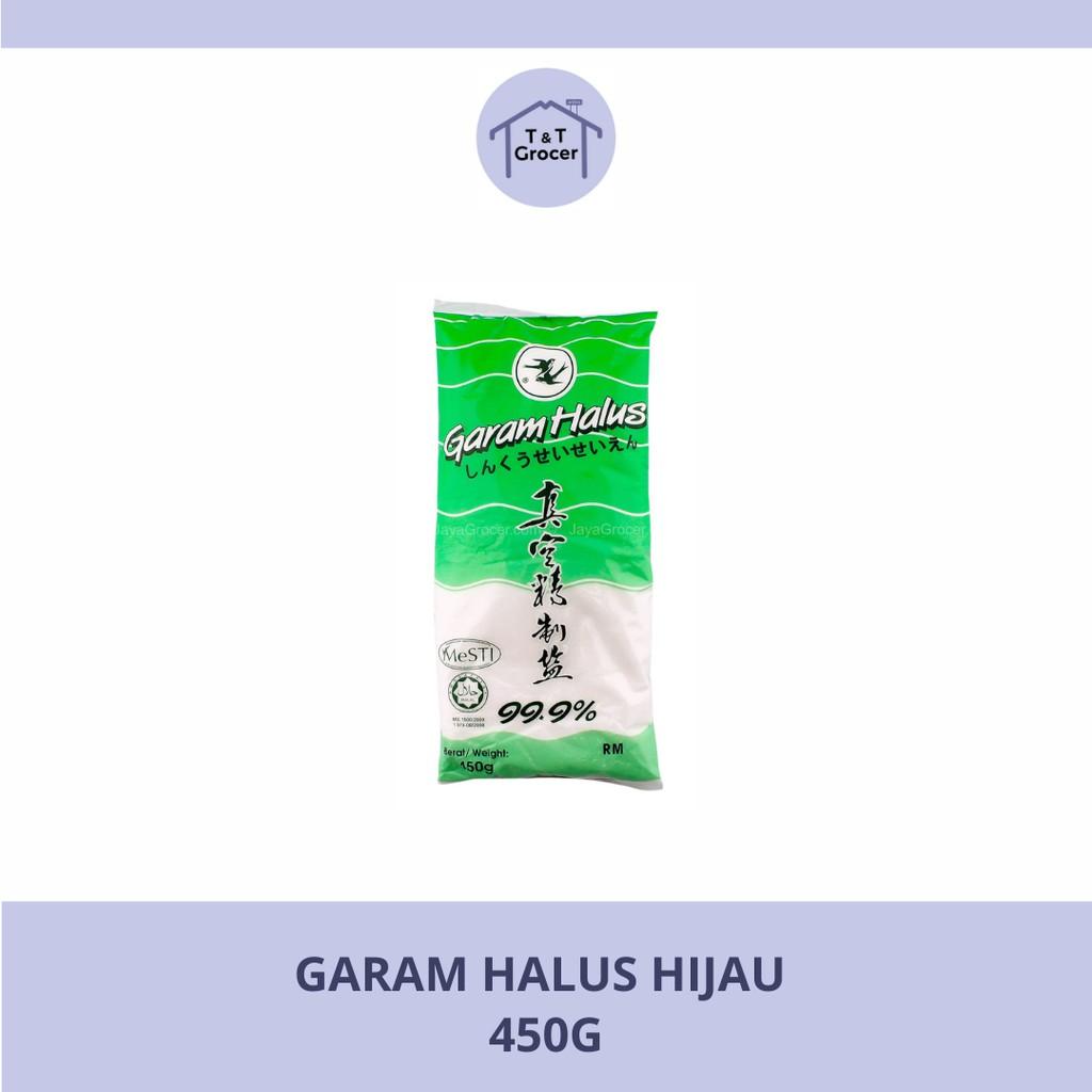 Garam Halus Hijau (450g) / Garam Putih Biru (350g)