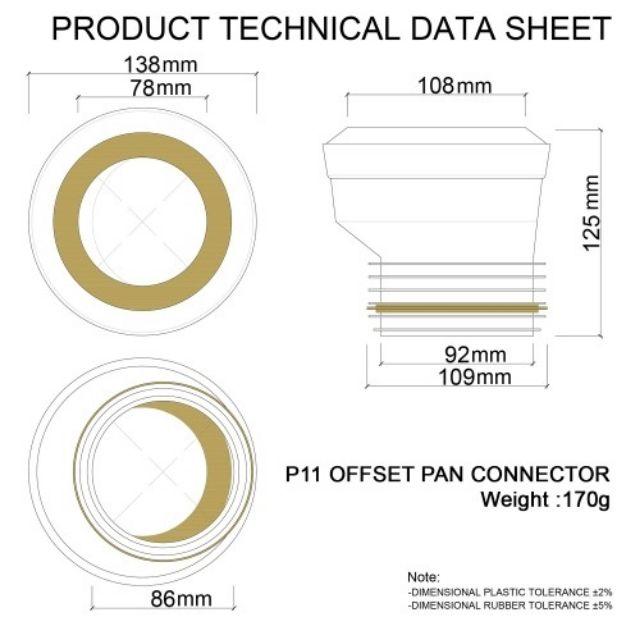 Offset toilet pan connector/ GETAH jamban | Shopee Malaysia