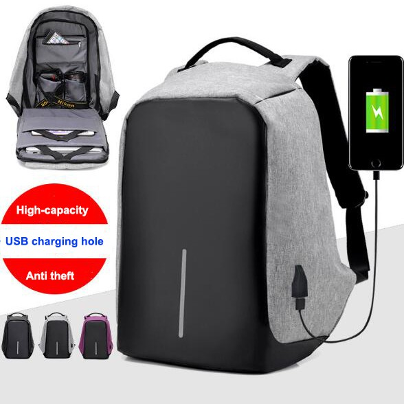 168ab05e7b Anti Theft Multifunctional with USB Charge Waterproof Travel Bagpack ...