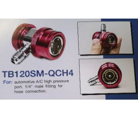 "TASCO BLACK QUICK COUPLE R134A (HIGH SIDE) 1/4"" HOSE FITTING  MODEL : TB120SM-QCH4"