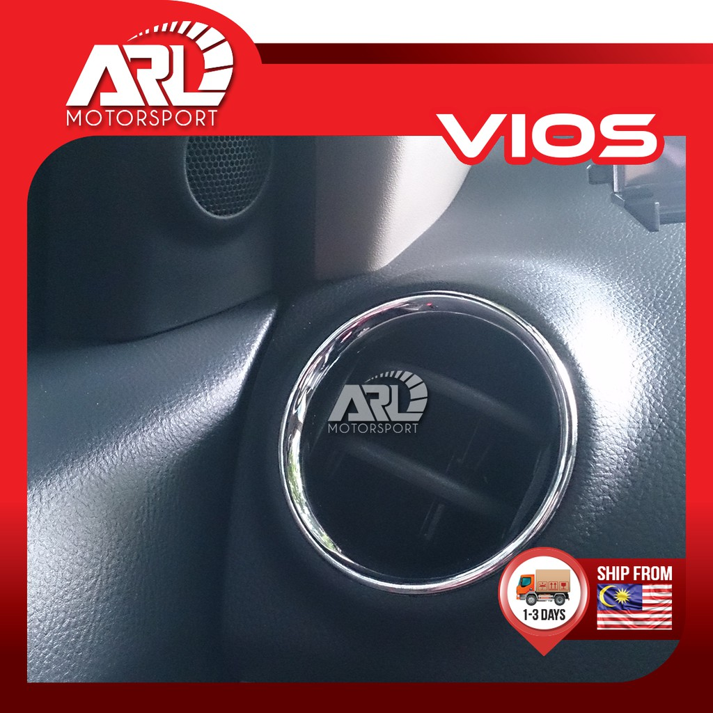Toyota Vios (2007-2012) NCP93 Aircond Lining Cover Chrome Car Auto Acccessories ARL Motorsport