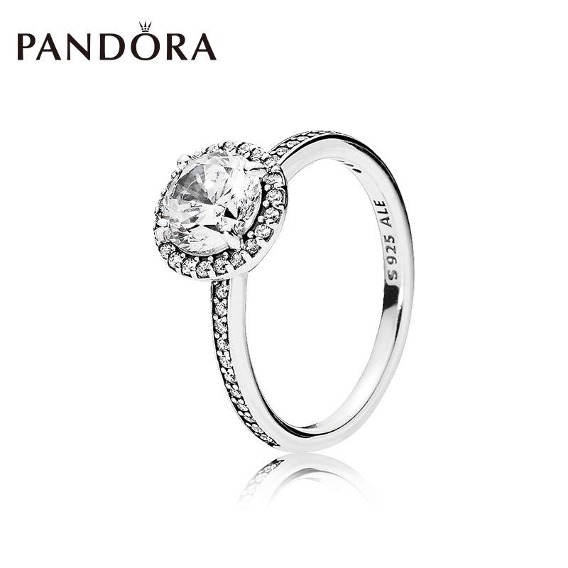 83d59addd690d Original PANDORA Ring 196250CZ Classic Personality Ring Index Finger Ring  Woman