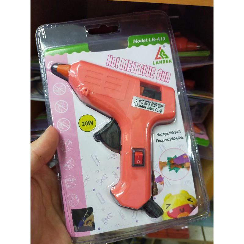 [ READY STOCK ] Electric Hot Melt Glue Gun 20w wt pcs Adhesive Electric Glue Hot Melt stick