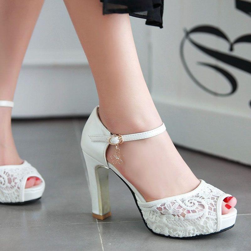 Buy Wedding Lace Heels Kasut Kahwin Nikah Size 34 To 43 Seetracker Malaysia
