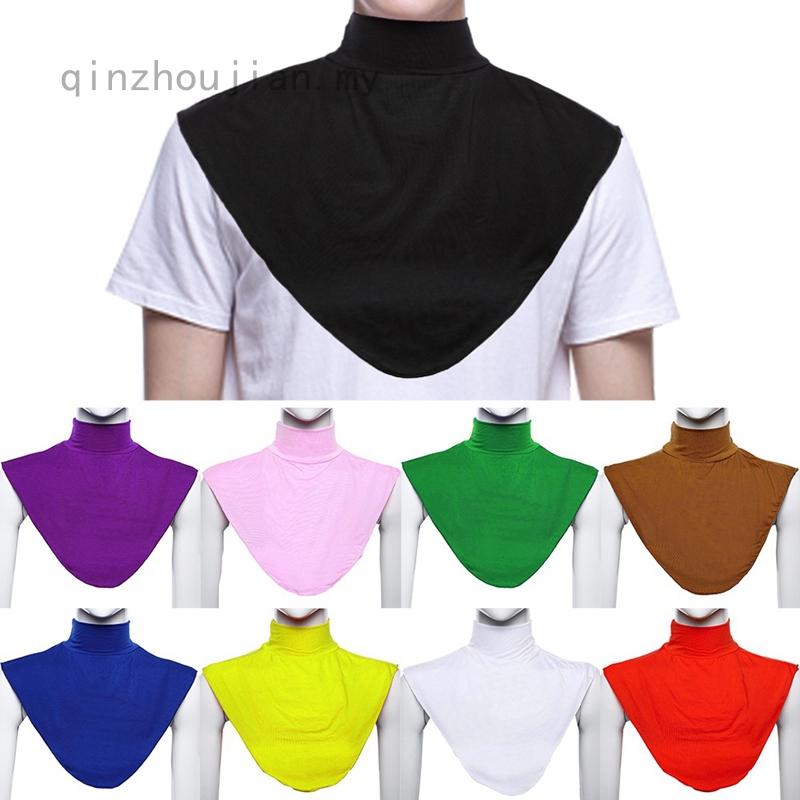 Modal False Collar Hijab Moslem Islamic Pure Color Neck Cover Loop Soft Scarf