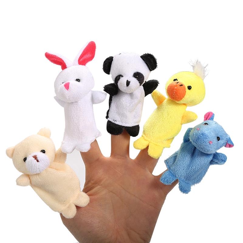 Light Cartoon Animal Finger Doll To Tell The Kids A Good Helper Parent-child Toy