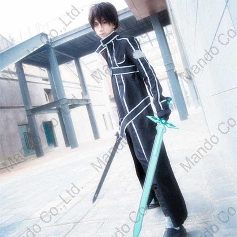 6f7ba4773e9b SAO Sword Art Online Kirigaya Kazuto Kirito Cosplay Costumes outfit ...