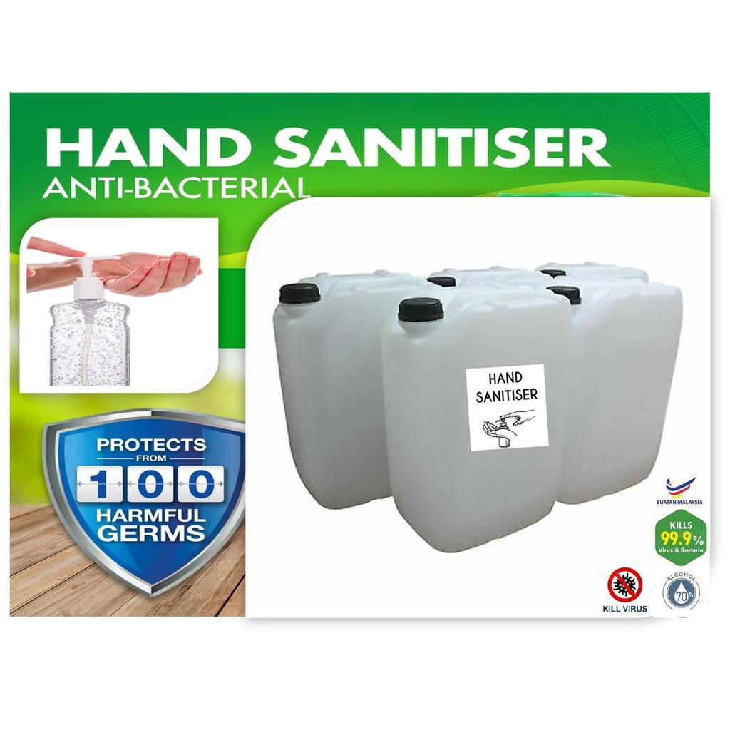 HAND SANITIZER 70 % ALCOHOL 10 LITER (10,000 ML)