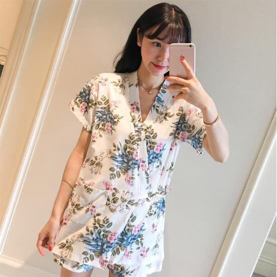 Womens Floral Spring Design Nightdress PJS Night Wear Shirt Nightie Cotton Full Sleeves Plus Size 14-22