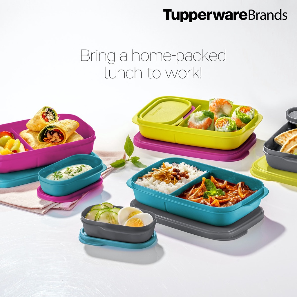 💥 READY STOCK ! 💥 Foodie Buddies Tupperware for lunch set bento
