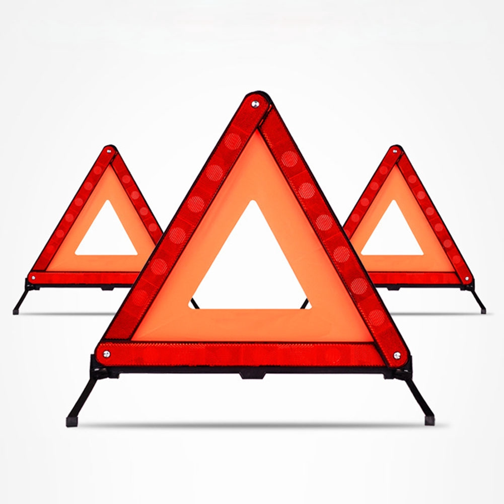 Car Vehicle Emergency Breakdown Warning Sign Triangle Reflective Road Safety