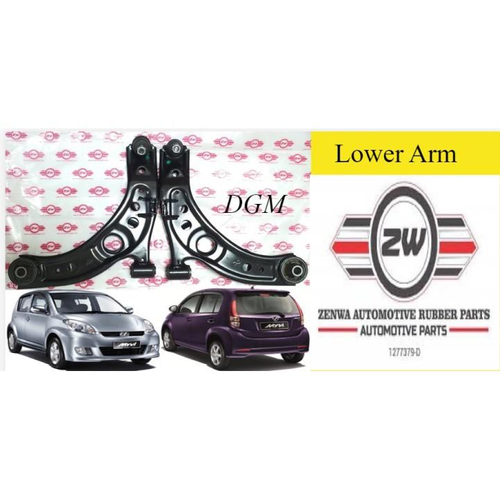ZW/ZENWA Perodua MYVI 2005-2017Y Lagi Best Front Left & Right Lower Arm 1Pair 2Pcs (1Year Warranty)
