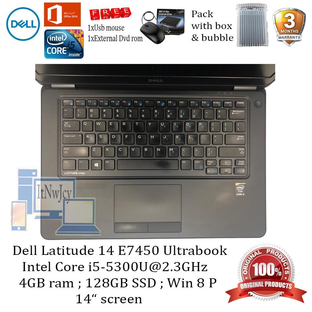 Refurbished Dell Latitude E7450(Core i5-5300U,4GB ram,128GB