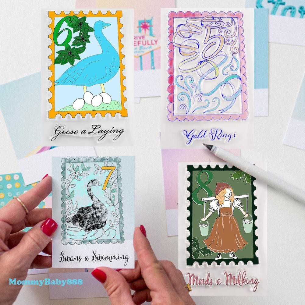 Haayward Month of Transparent Clear Silicone Stamp for DIY Scrapbooking Photo Album Decor