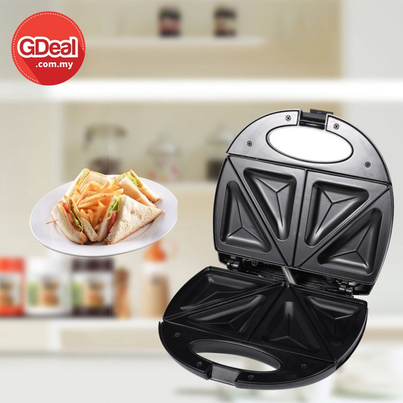 GDeal Stainless Steel Kitchen Breakfast Sandwich Maker Electric Toaster With Non Stick Plate